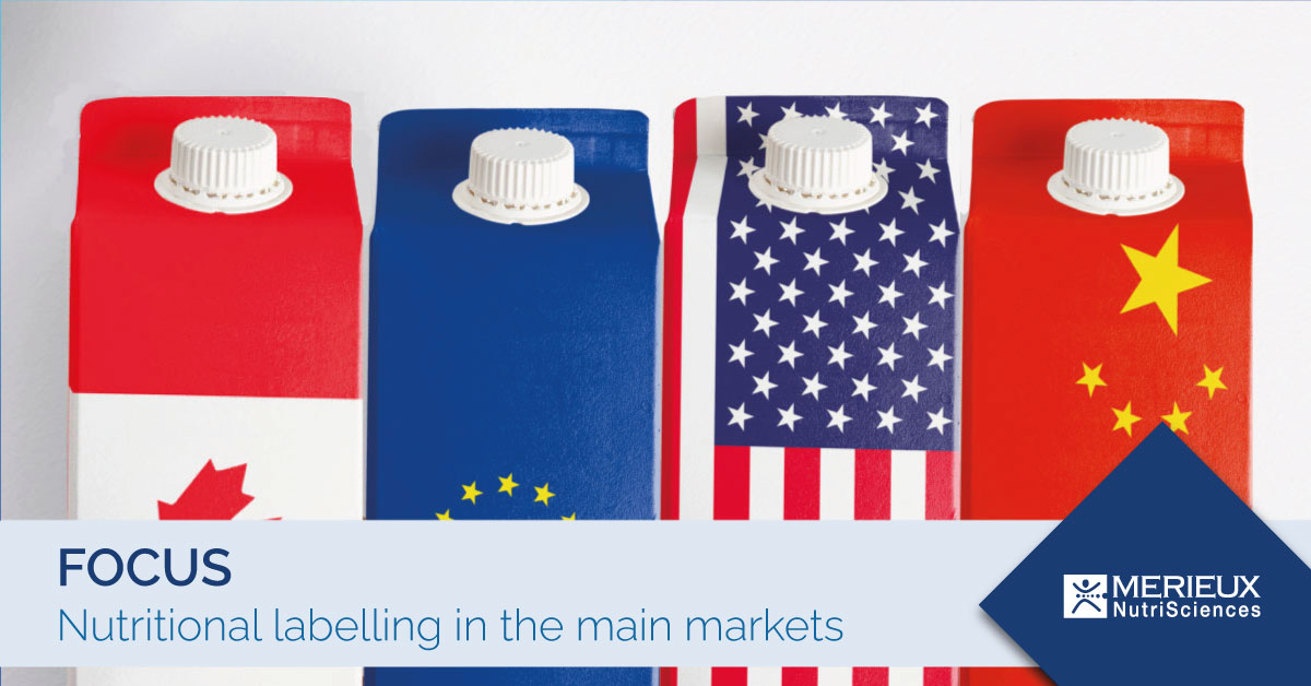 nutritional labelling in the main markets