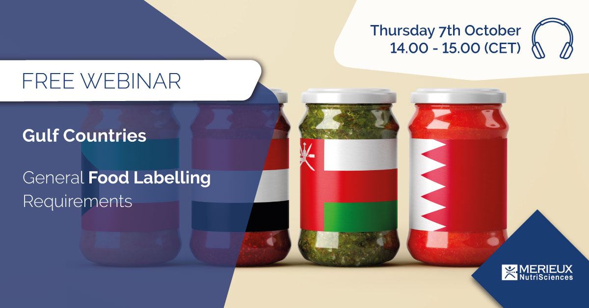 free webinar gulf countries food labelling