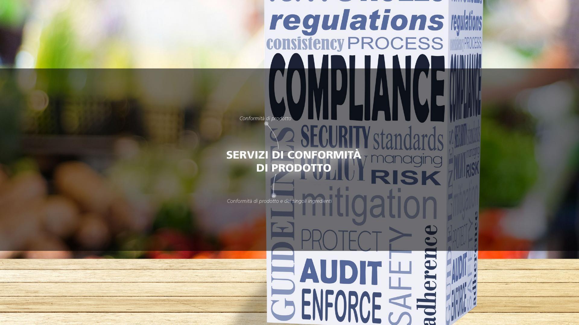 Mérieux NutriSciences-labeling and Regulatory-Conformità di prodotto