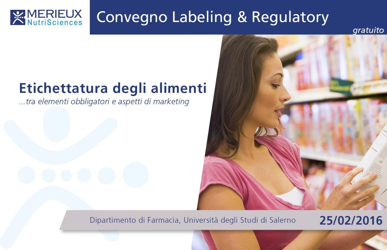 Convegno Labeling and Regulatory services gratuito a Salerno - 25 febbraio 2016