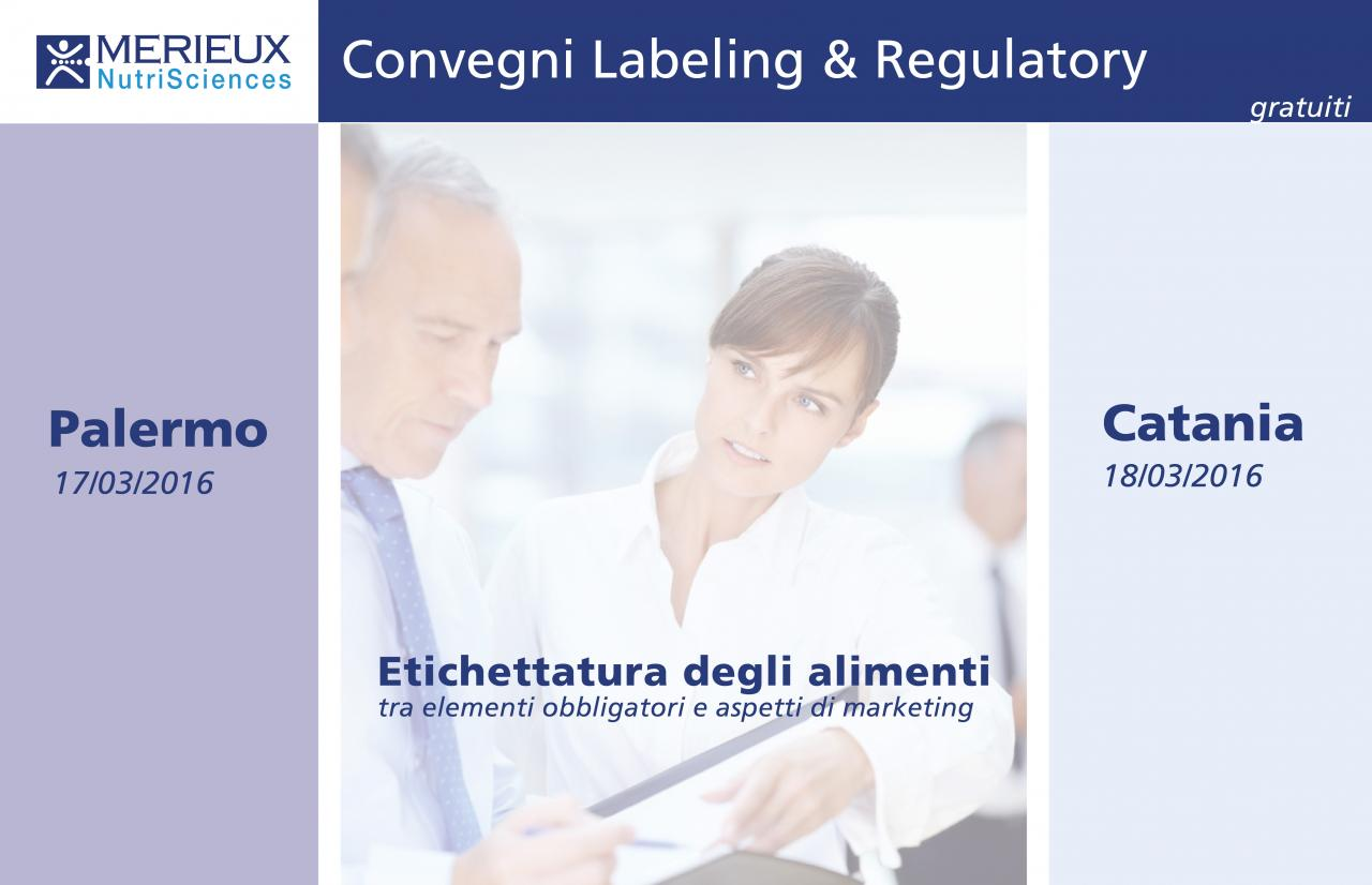 Merieux NutriSciences Convegni Labeling and Regulatory Services gratuiti a Palermo e Catania, Marzo 2016